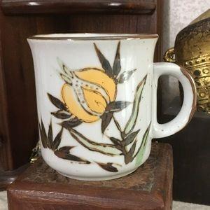 VTG Korean Floral Coffee Cup